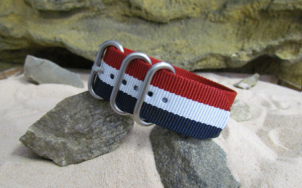 The Patriot Z3™ Ballistic Nylon Strap w/ Brushed SS Hardware (Stitched) 20mm