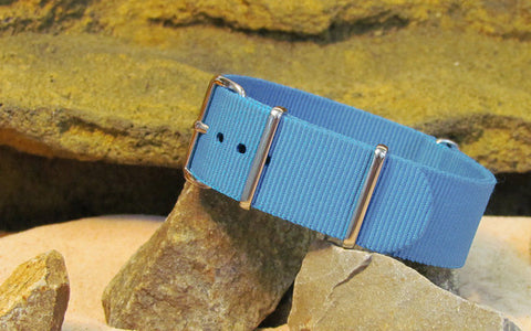 The Airborne Ballistic Nylon Strap w/ Polished Hardware 18mm
