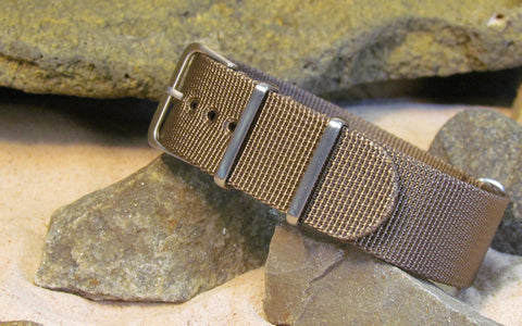 The Fortress XII Ballistic Nylon Strap w/ Brushed Hardware (Stitched) 18mm