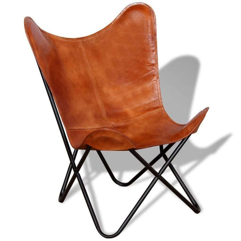 Butterfly Chair Brown Leather