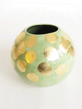 Green+Gold Orb Vase