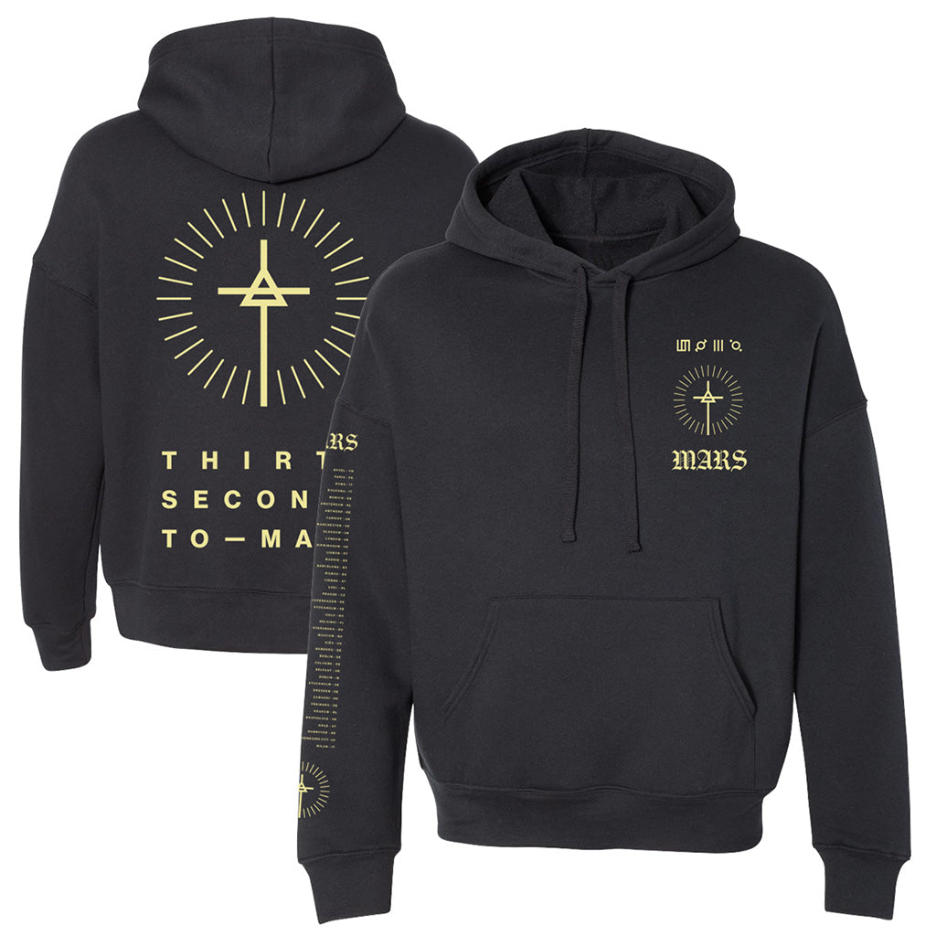 European Monolith Tour 2018 Symbol Hoodie-Black/Yellow