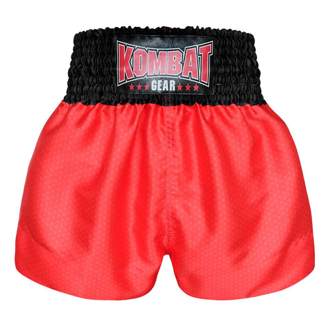 Kombat Gear Muay Thai Boxing shorts Star Pattern Red Black Waist