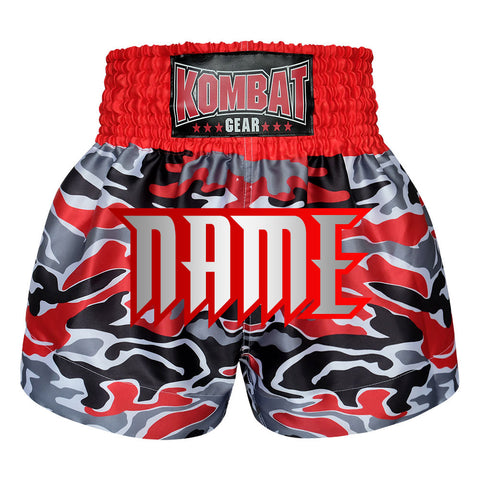 Custom Kombat Gear Muay Thai Boxing shorts Red  Camouflage