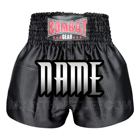 Custom Kombat Gear Muay Thai Boxing shorts Star Pattern Black