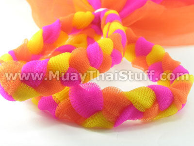 KOMBAT GEAR MuayThai Prajioud (Arm Bands) Yellow Pink Orange