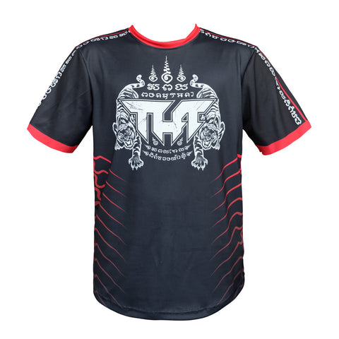 TUFF Muay Thai Shirt True Power Double Tiger Black TUF-TS001