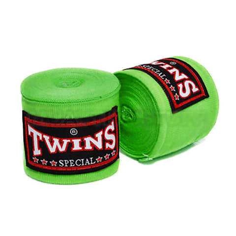 Twins Special Hand wraps Green Elastic Cotton CH5