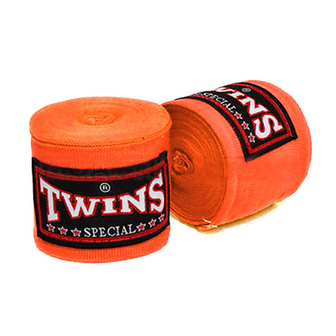 Twins Special Hand wraps Orange Elastic Cotton CH5