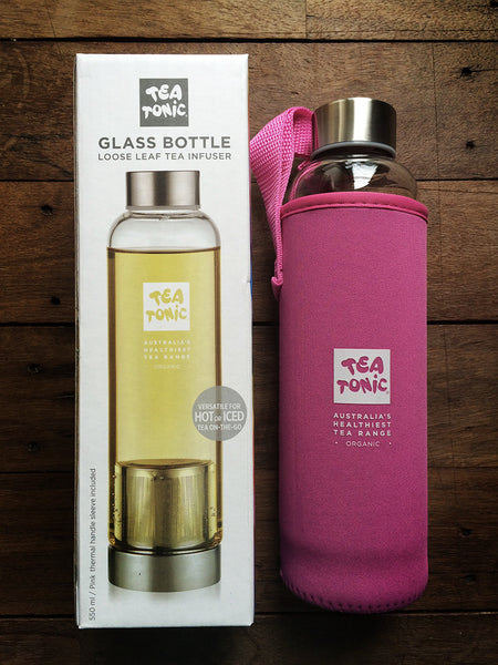Glass Bottle - Loose Leaf Tea Infuser with Neoprene Sleeve