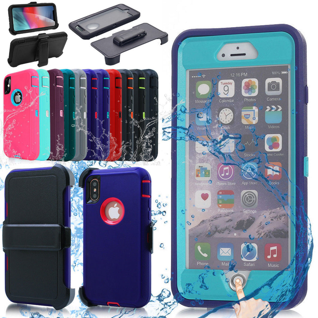 Heavy Duty  Shockproof Dirtproof Durable Case Cover for iPhone With Belt Chip