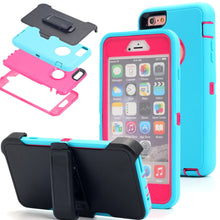 Load image into Gallery viewer, Heavy Duty  Shockproof Dirtproof Durable Case Cover for iPhone With Belt Chip