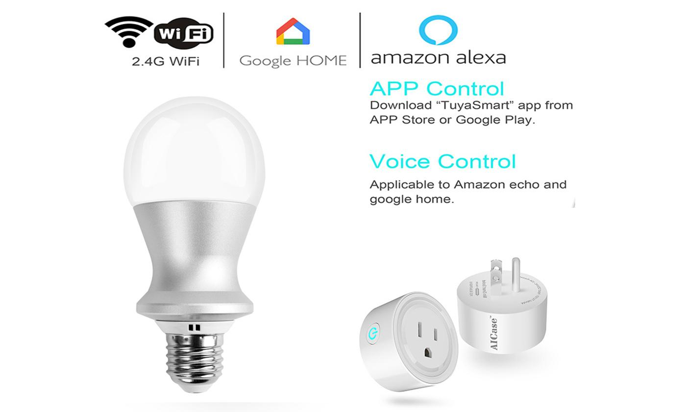 Lamp Light Bulbs Smart LED WiFi Energy-Saving E26/E27/B22/E14