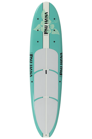 "Pau Hana Surf Supply 11'0"" Big EZ Hawaiian Stand Up Paddle Board (in SEAFOAM GREEN) (Front View)"