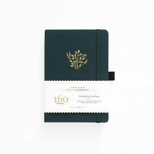 Archer & Olive Blank Deep Green | Archer & Olive Sketchbook Deep Green