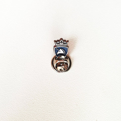Blue & Silver Knight lapel Pin
