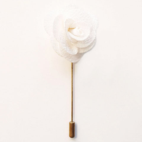 White Flower Lapel Pin