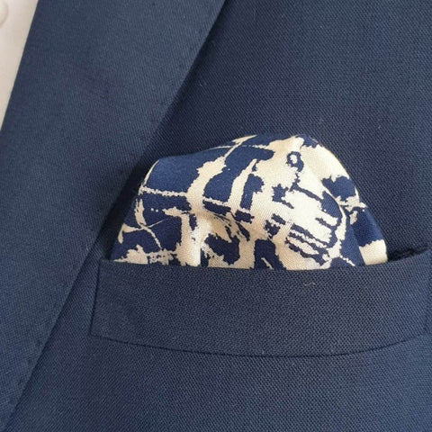 Shattered Blue Pocket Square