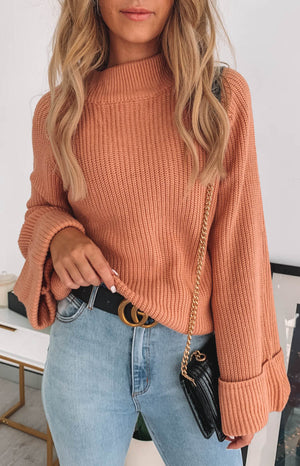 Chriselle Bell Sleeve Knit Blush