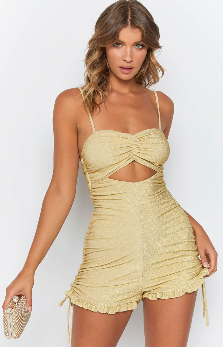 Dolly Playsuit Gold