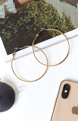 Eclat Rylee Hoop Earrings Gold