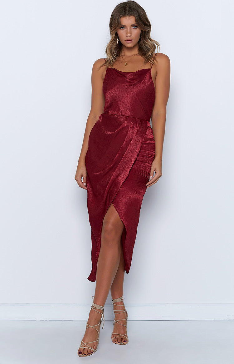 Moonlight Chase Maxi Dress Maroon