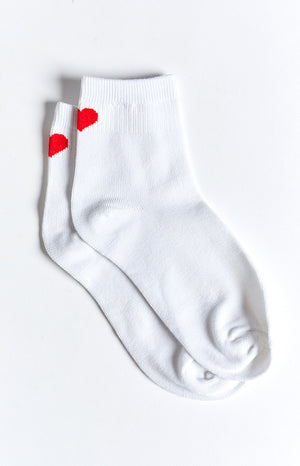 Eclat Sweetest Thing Heart Socks White