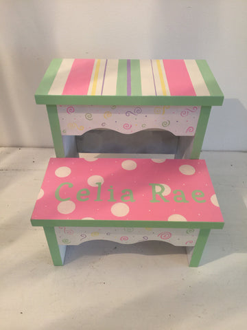 Sweet Celia Stripe Step Stool