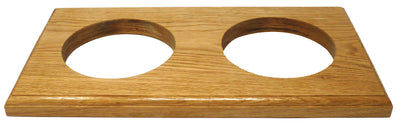 Handmade Double Light English Oak Mount