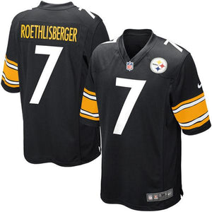 Youth Pittsburgh Steelers Ben Roethlisberger Nike Black Team Color Game Jersey
