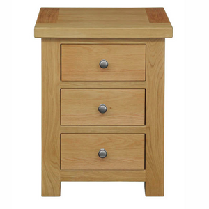 Woodstock Oak 3 Drawer Bedside