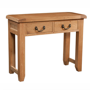 Somerset Oak 2 Drawer Console Table