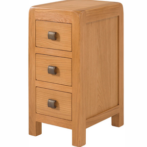 Avon Oak 3 Drawer Compact Bedside