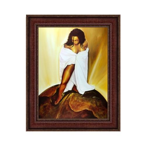 "Power of a Woman by Kevin ""WAK"" Williams (Brown Frame)"