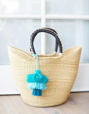 Little market - Blue and Green layered tassels