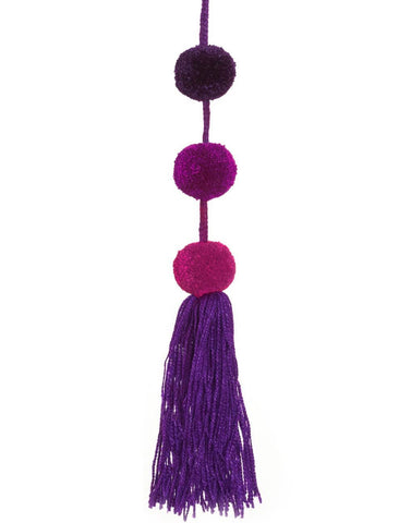 Little Market Triple Pom Pom Charm Purple