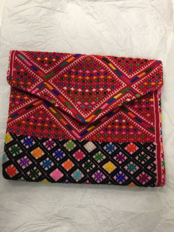 Huipil envelope clutch medium multi