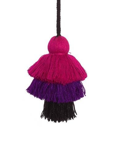 Little market - Purple and Black layered tassels