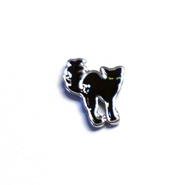 Black Cat Floating Charm - Stoney Creek Charms