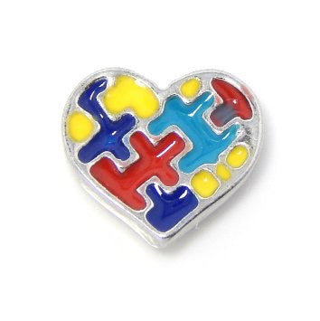 Autism Awareness Heart - Stoney Creek Charms