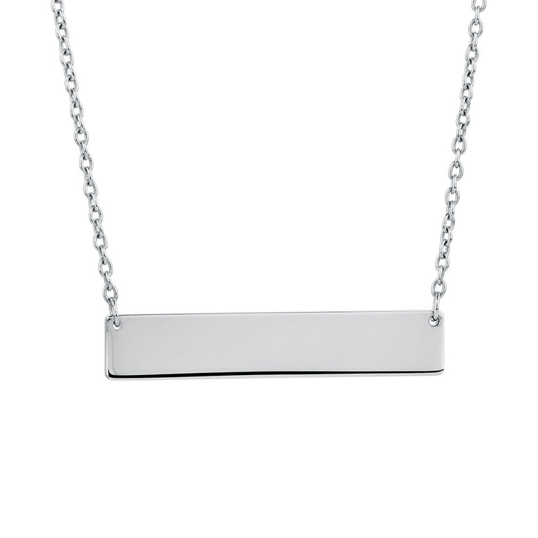 Small Personalized Bar Necklace