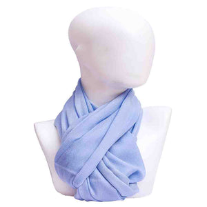 Winter Essential Pure Cashmere Stole - Light Blue