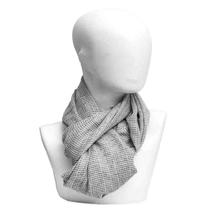 Winter Essential Cashmere Blend Stole - Light Brown Checks