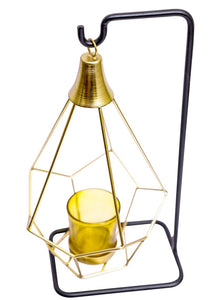 Hexagonal Lantern with candle votive