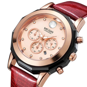 Women Chronograph Quartz Wristwatches 40mm