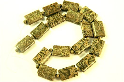 Australian Green Jasper, 13x18mm, Pillow Shape Beads