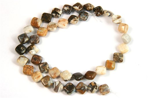 Brioche Jasper, 8mm, Puff Diamond Shape Beads