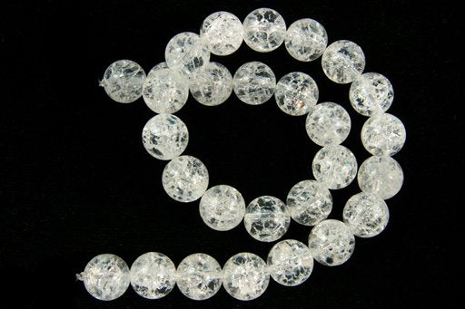 Cracked Crystal, 14mm, Round Shape Beads