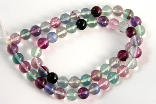 Fluorite, 8mm, Round Shape Beads