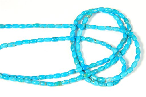Turquoise (Genuine), 3x5mm, Rice Shape Beads